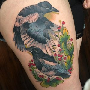 Nature based tattoos by guest artist Lucy O'Connell at Modern Body Art