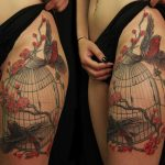 birdcage tattoo by Jo Harrison