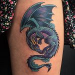 Colourful fantasy dragon by Charlotte Timmons