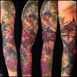 cycling sleeve by Jo Harrison