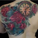 roses and timepiece by Jo Harrison