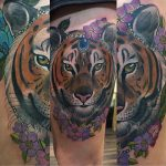 Bejewelled tiger tattoo, Modern Body Art