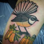 fantail bird tattoo by charlotte timmons