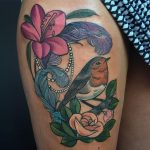 robin on branch tattoo by charlotte timmons