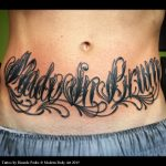 Made in Brum stomach tattoo by Ricardo Pedro