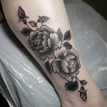 peony tattoo by Gracie Gosling at Modern Body Art