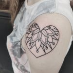 Heart shoulder mandala tattoo by Gracie Gosling at Modern Body Art