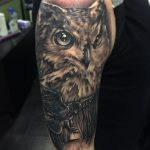 eagle owl tattoo by Greg Bishop