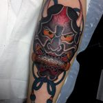 Hannya and scroll by Elle Richmond Japanese Tattoos