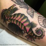 Seahorse tattoo by Frances