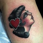 Lady with heart in her hair by Frances