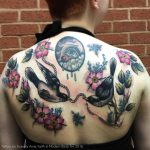 Bird and flower backpiece