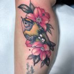 traditional, tattoo, bird. bird tattoo, floral tattoo, tattoo birmingham, modern body art, frances anne faith, tattoos, arm tattoo, goldfinch, goldfinch, tattoo