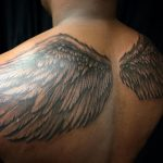 angel wings tattoo by greg Bishop