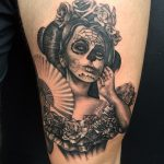 day of the dead lady by greg Bishop Modern Body Art
