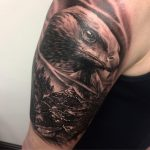 eagle and mountains tattoo by Greg Bishop Modern Body Art