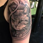 egyptian cat tattoo by greg bishop
