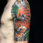 japanese half sleeve - tiger - ellie richmond