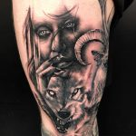 Portrait tattoos - wolves and tattoos of women