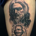 jesus and sacred heart tattoo by greg Bishop