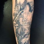 2 wolves tattoo by greg Bishop