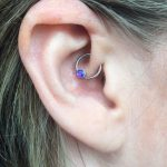 Daith piercing with opal jewellery by Gee in Birmingham