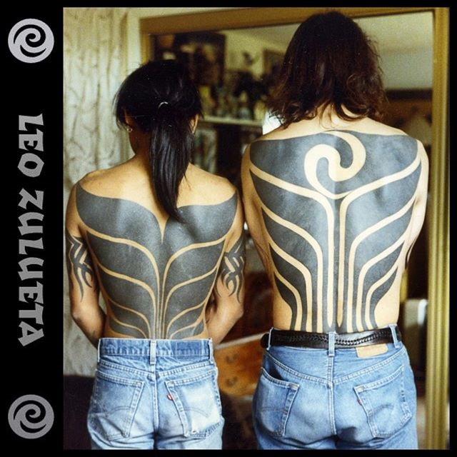 Left backpiece by Ed Hardy. Right backpiece by Leo Zulueta