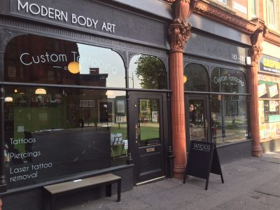 Modern Body Art tattoo shop Birmingham