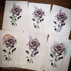 Hand finished roses prints by Matt Hunt in Brimingham