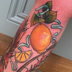 lucy-oconnell-lemon-and-ribbon-tattoo