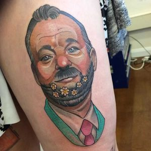 lucy-oconnell-stylised-portrait-tattoo-bill-murray