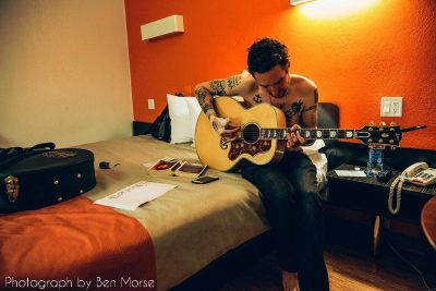 Frank Turner and tattoos. Photo by Ben Morse