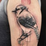 bird tattoo and watercolour by Matt Hunt