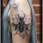 beetle and geometry tattoo by Matt Hunt Birmingham