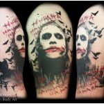 heathe ledger joker tattoo by Matt Hunt