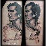 townes van zandt portrait tattoo by Matt Hunt