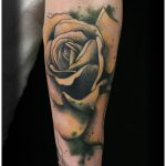 yellow rose tattoo by Matt Hunt