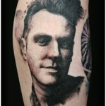 black and grey morrissey portrait by Matt Hunt