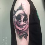 skull in a rose by Matt Hunt