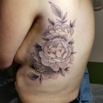 black and grey peonies by Gracie