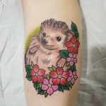 cute little hedgehog tattoo by Gracie Gosling