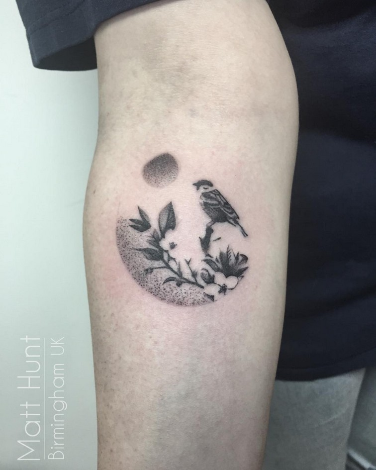 04ec7e82fca86 small bird tattoo design by matt hunt at modern body art tattoo studio in  birmingham uk ...