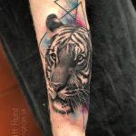 Tiger and watercolour tattoo